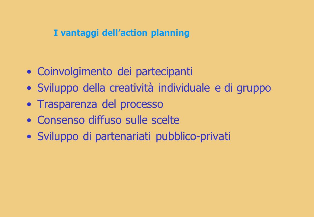 I vantaggi dell'action planning