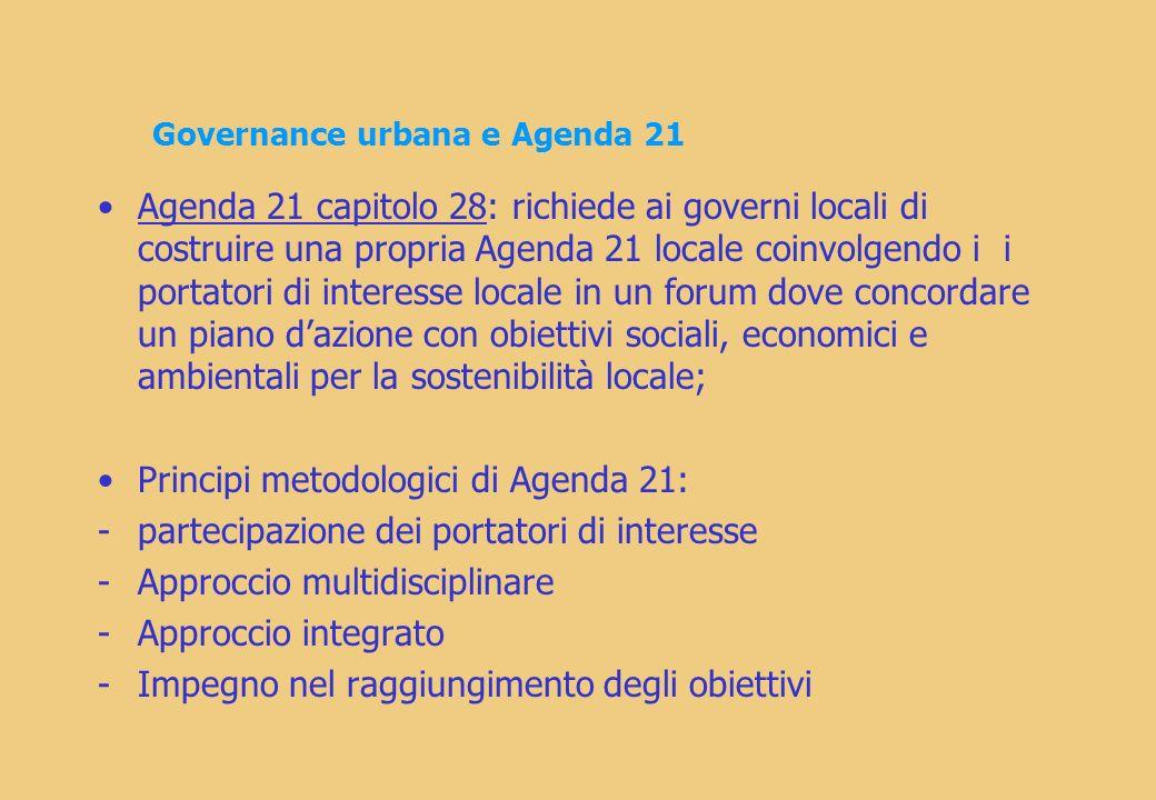 Governance urbana e Agenda 21