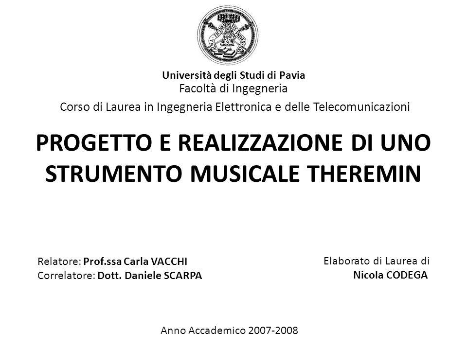 Progetto e realizzazione di uno strumento musicale theremin