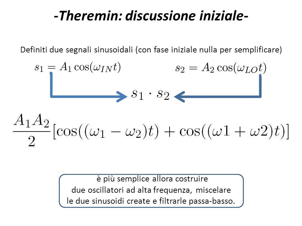 -Theremin: discussione iniziale-