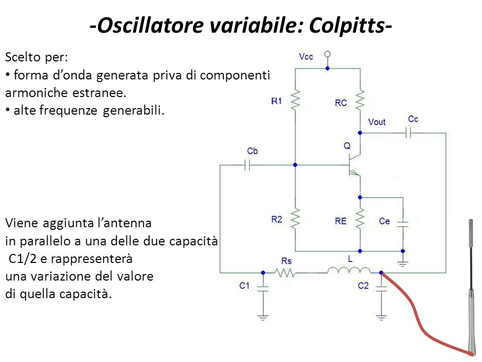 -Oscillatore variabile: Colpitts-