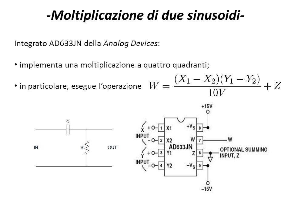 -Moltiplicazione di due sinusoidi-