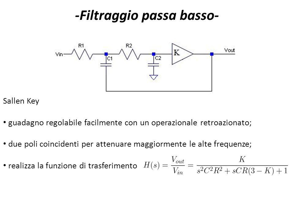 -Filtraggio passa basso-