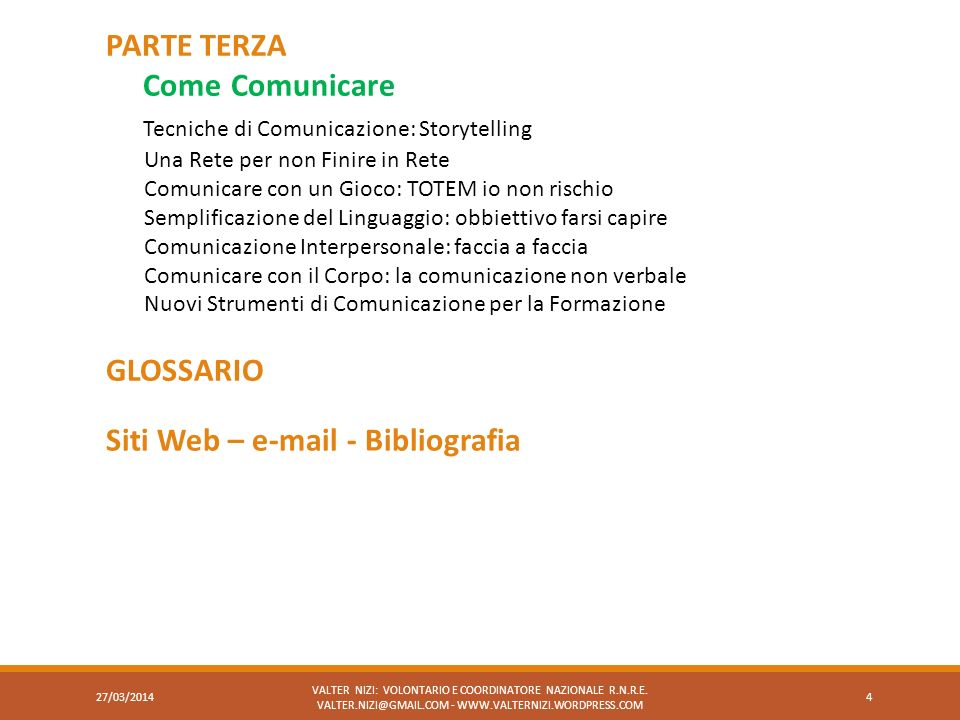 Tecniche di Comunicazione: Storytelling