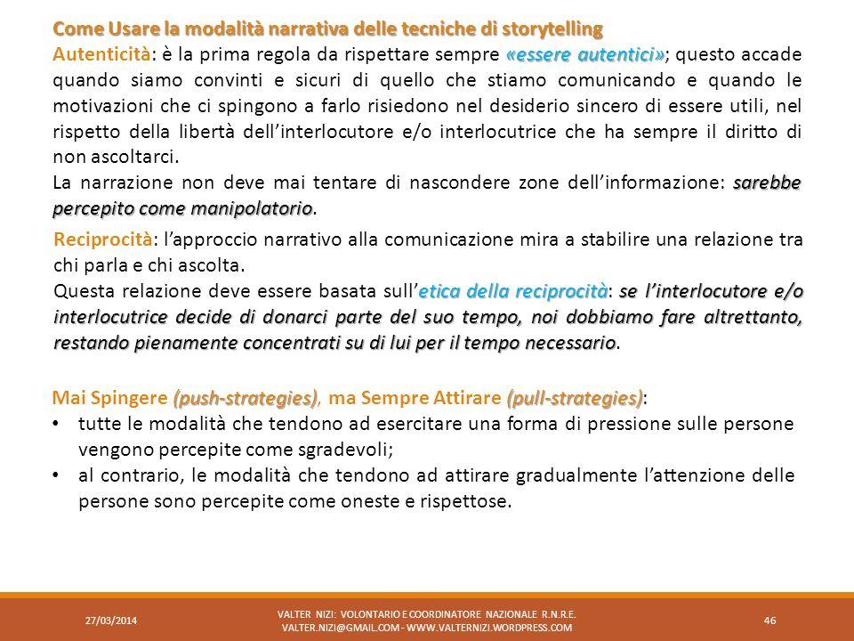 Come Usare la modalità narrativa delle tecniche di storytelling