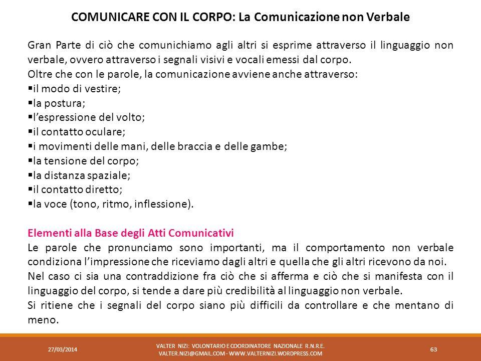 COMUNICARE CON IL CORPO: La Comunicazione non Verbale