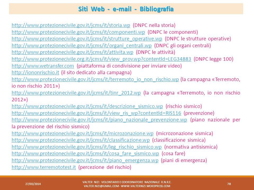 Siti Web - e-mail - Bibliografia