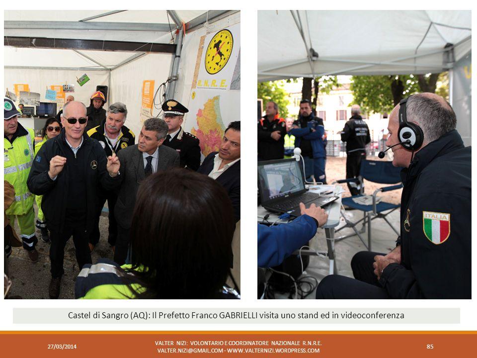 Castel di Sangro (AQ): Il Prefetto Franco GABRIELLI visita uno stand ed in videoconferenza