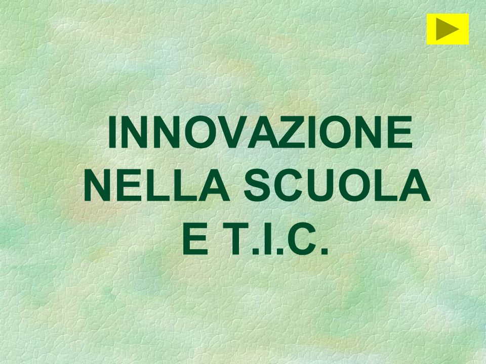 INNOVAZIONE NELLA SCUOLA E T.I.C.