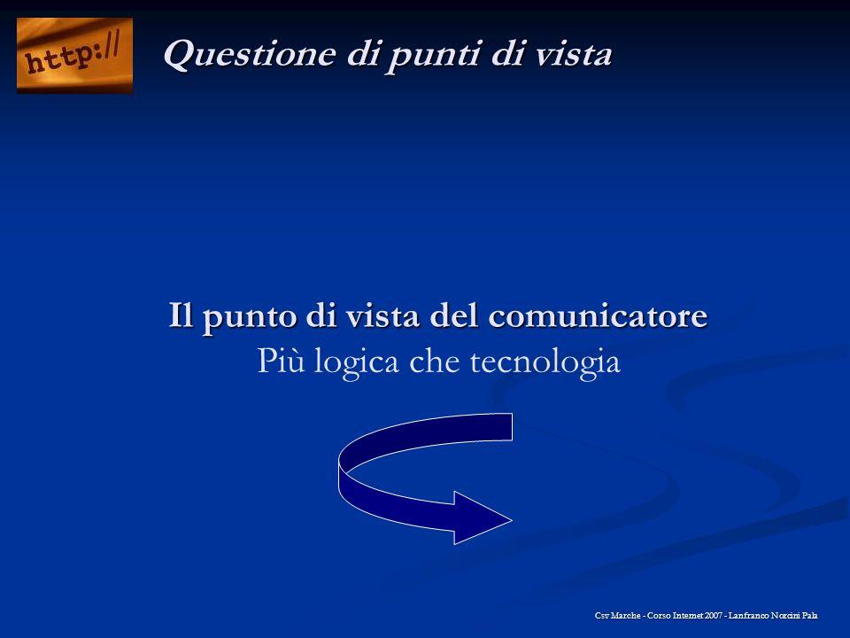 Il punto di vista del comunicatore Più logica che tecnologia