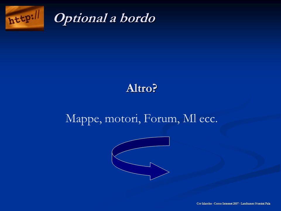 Altro Mappe, motori, Forum, Ml ecc.