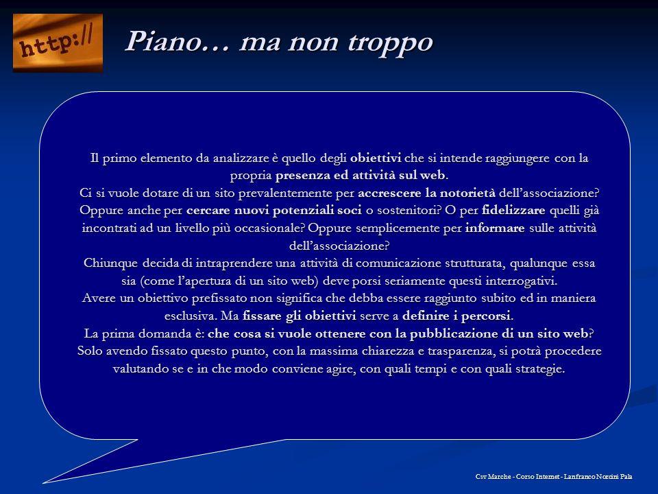 Csv Marche - Corso Internet - Lanfranco Norcini Pala