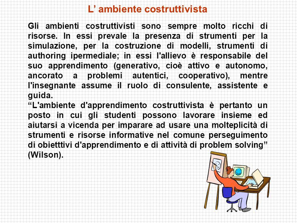 L' ambiente costruttivista