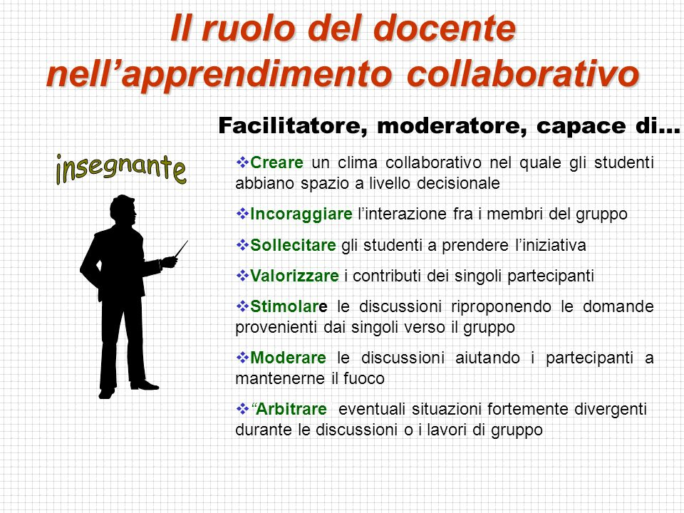 Il ruolo del docente nell'apprendimento collaborativo