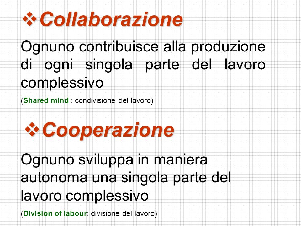 Collaborazione Cooperazione