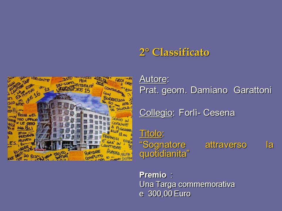 2° Classificato Autore: Prat. geom. Damiano Garattoni