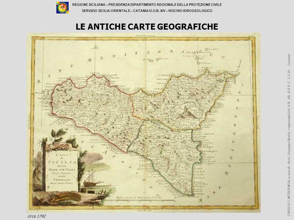 LE ANTICHE CARTE GEOGRAFICHE
