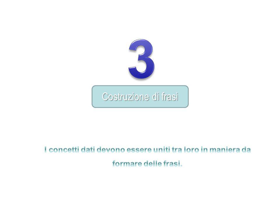 3 Costruzione di frasi.