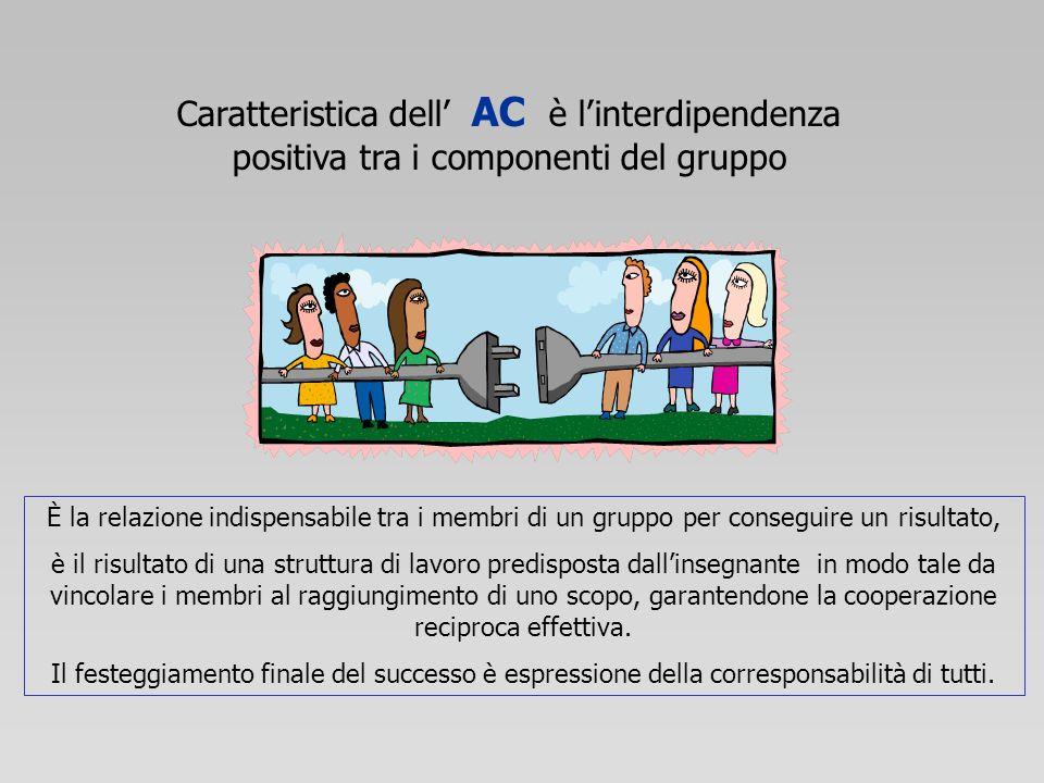Caratteristica dell' AC è l'interdipendenza positiva tra i componenti del gruppo
