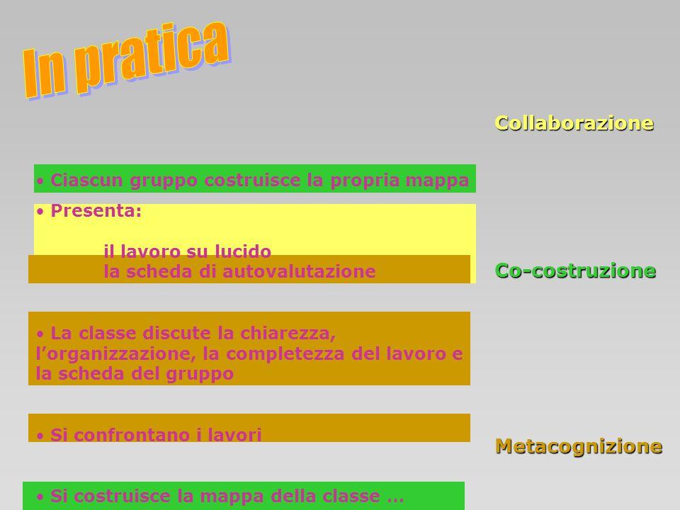 In pratica Collaborazione Co-costruzione Metacognizione