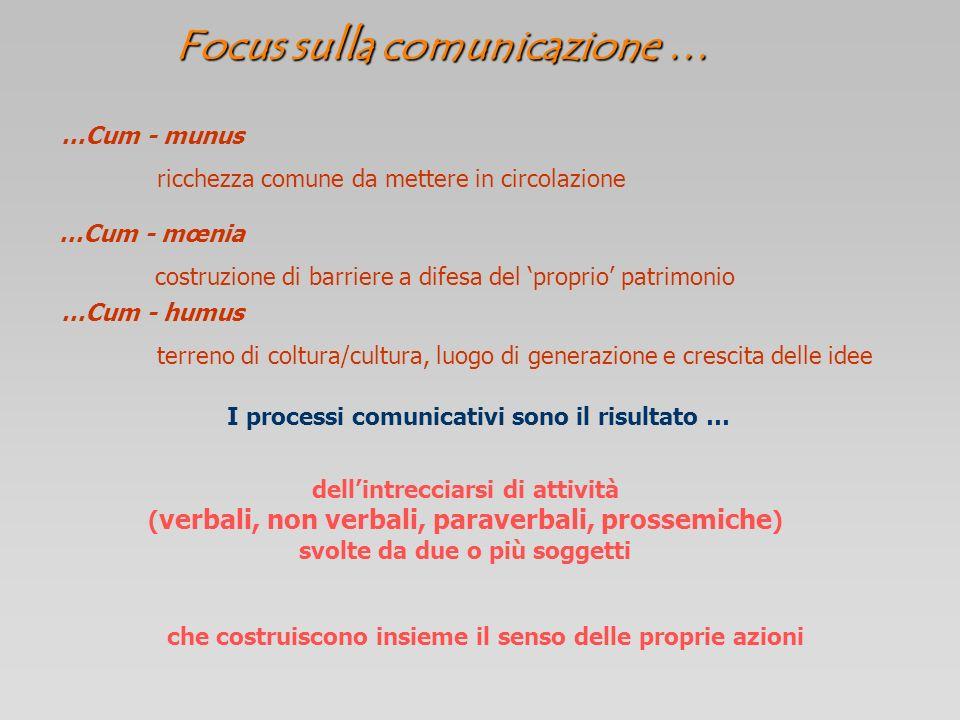 Focus sulla comunicazione …
