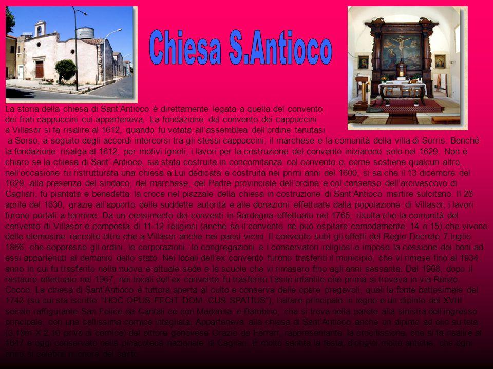 Chiesa S.Antioco La storia della chiesa di Sant'Antioco è direttamente legata a quella del convento.