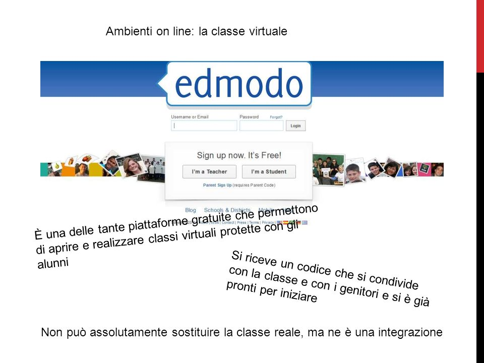 Ambienti on line: la classe virtuale