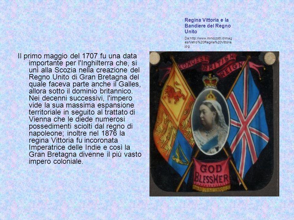 Regina Vittoria e la Bandiere del Regno Unito