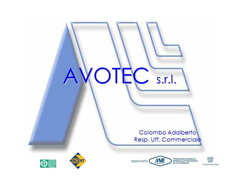 AVOTEC s.r.l. Colombo Adalberto Resp. Uff. Commerciale