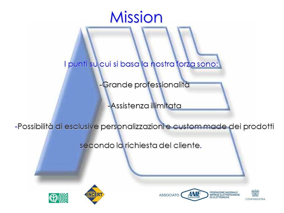 Mission I punti su cui si basa la nostra forza sono: