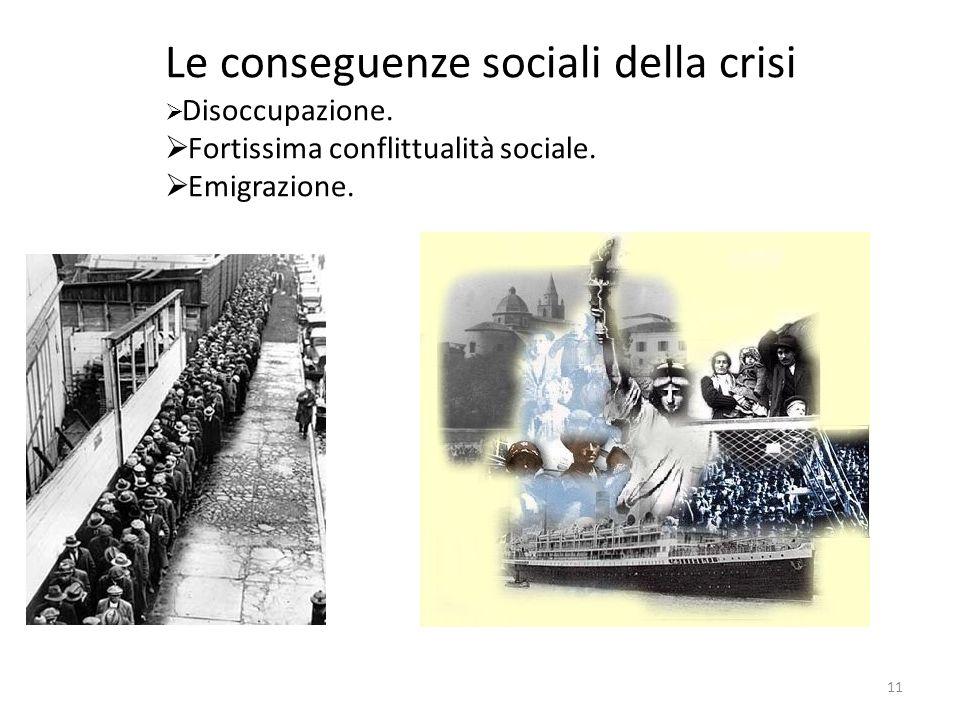 Le conseguenze sociali della crisi