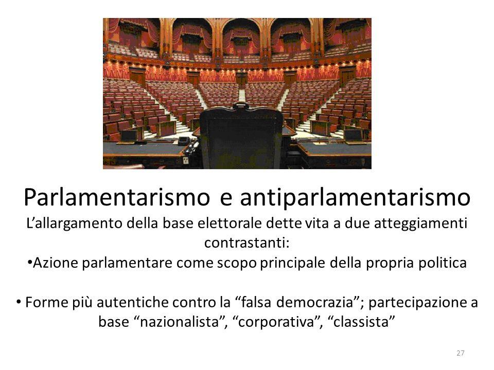 Parlamentarismo e antiparlamentarismo