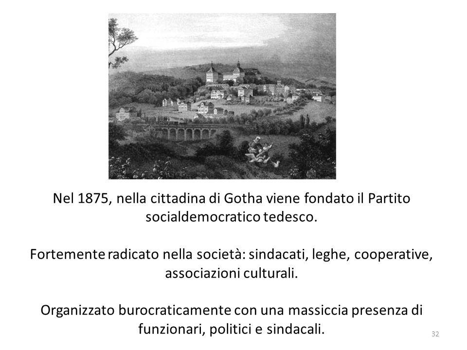 Nel 1875, nella cittadina di Gotha viene fondato il Partito socialdemocratico tedesco.