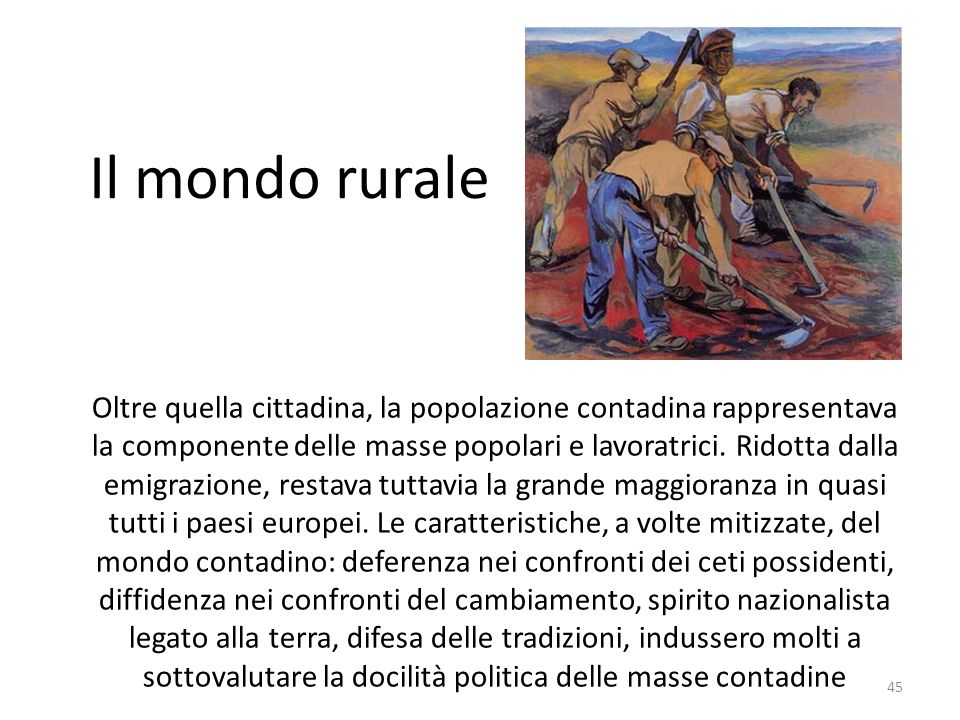 Il mondo rurale