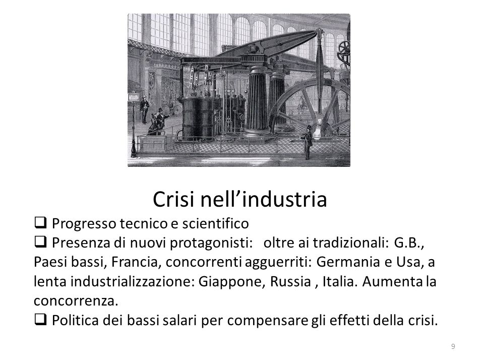 Crisi nell'industria Progresso tecnico e scientifico