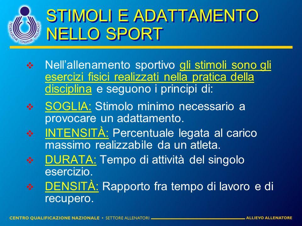 STIMOLI E ADATTAMENTO NELLO SPORT