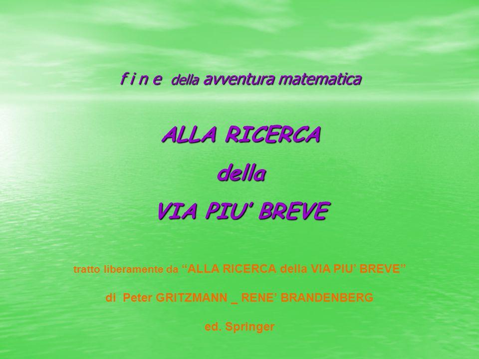 f i n e della avventura matematica