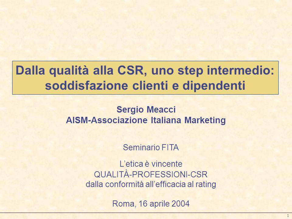 Dalla qualità alla CSR, uno step intermedio: