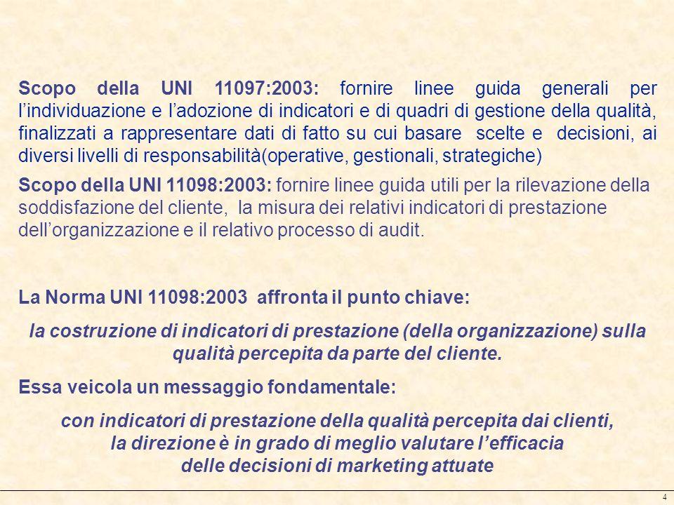 La Norma UNI 11098:2003 affronta il punto chiave: