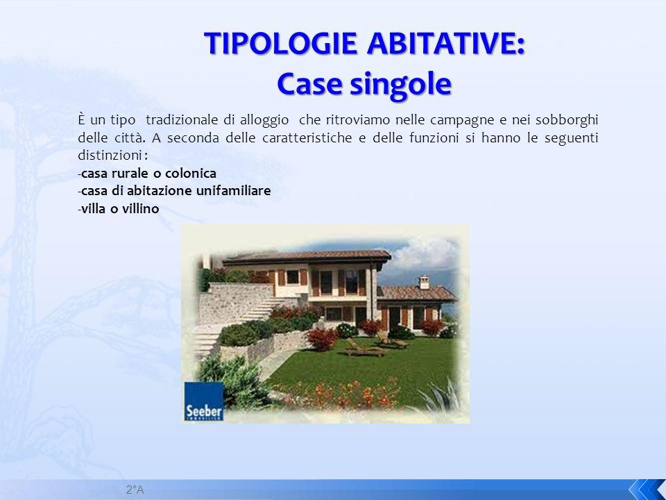 TIPOLOGIE ABITATIVE: Case singole