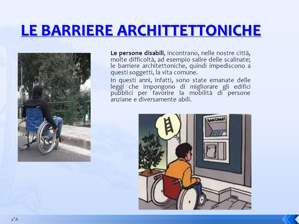 LE BARRIERE ARCHITTETTONICHE