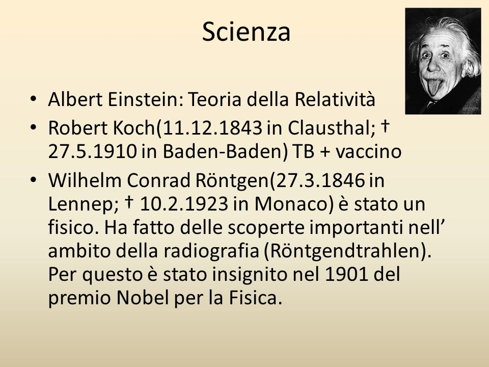 Scienza Albert Einstein: Teoria della Relatività