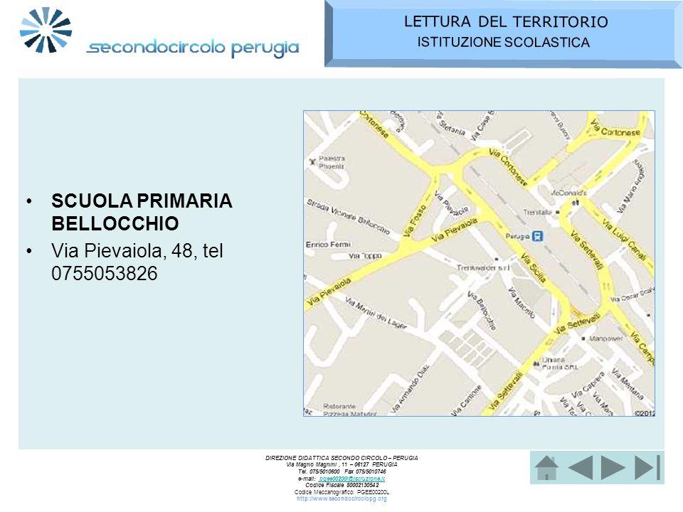 SCUOLA PRIMARIA BELLOCCHIO Via Pievaiola, 48, tel 0755053826