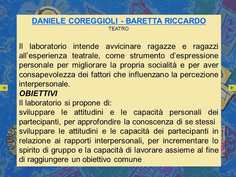 DANIELE COREGGIOLI - BARETTA RICCARDO