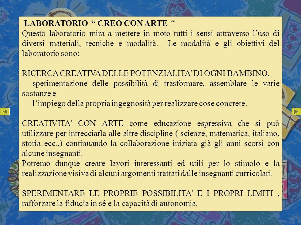 LABORATORIO CREO CON ARTE