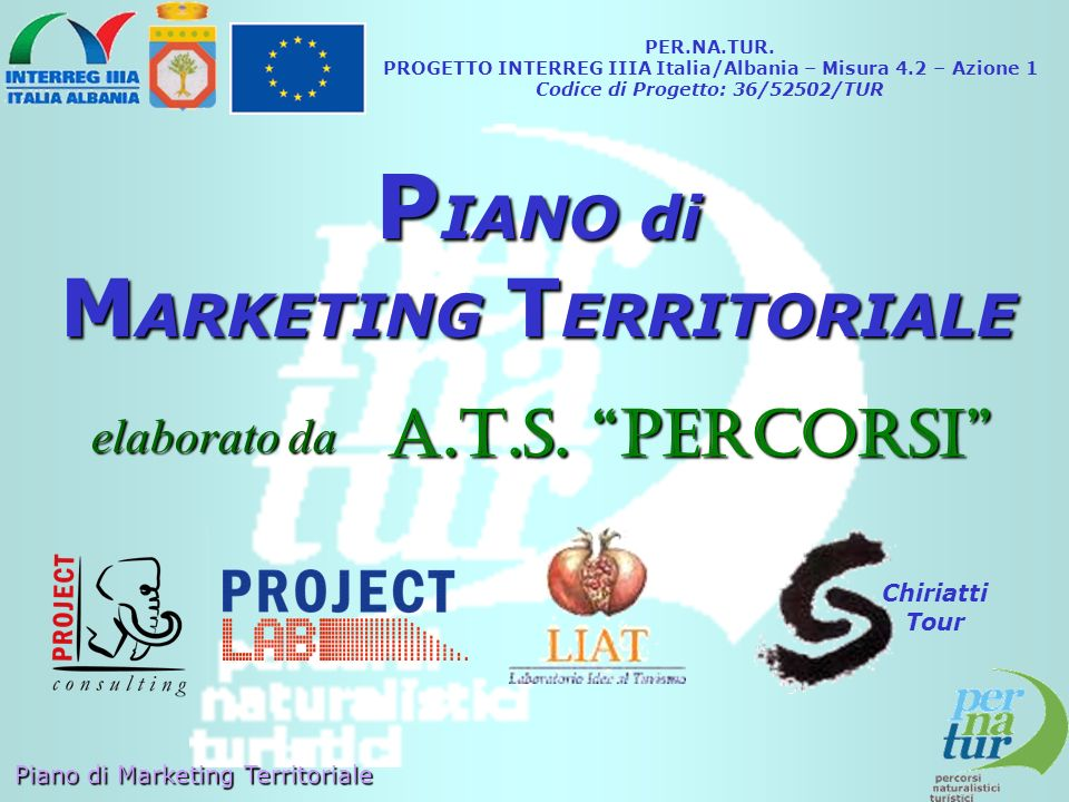 PIANO di MARKETING TERRITORIALE A.T.S. PERCORSI elaborato da