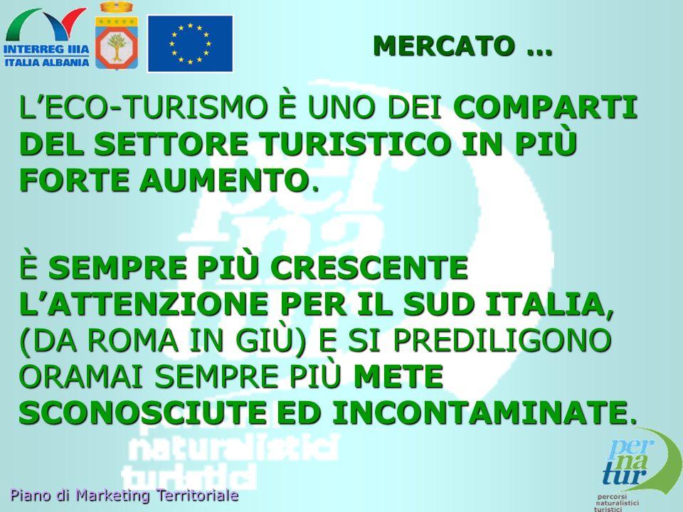MERCATO … L'ECO-TURISMO È UNO DEI COMPARTI DEL SETTORE TURISTICO IN PIÙ FORTE AUMENTO.