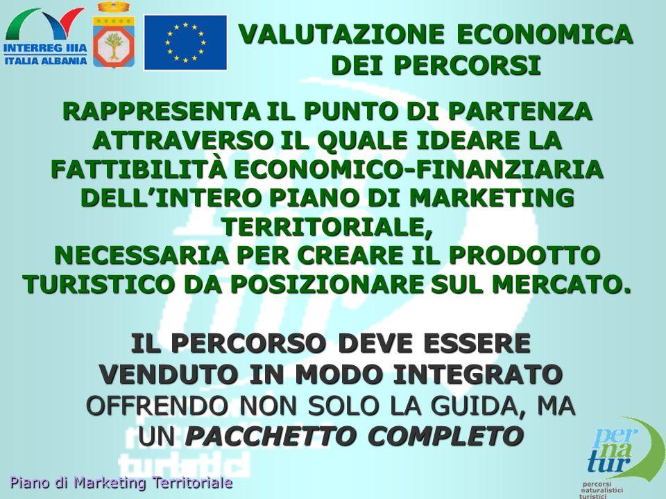 VALUTAZIONE ECONOMICA DEI PERCORSI