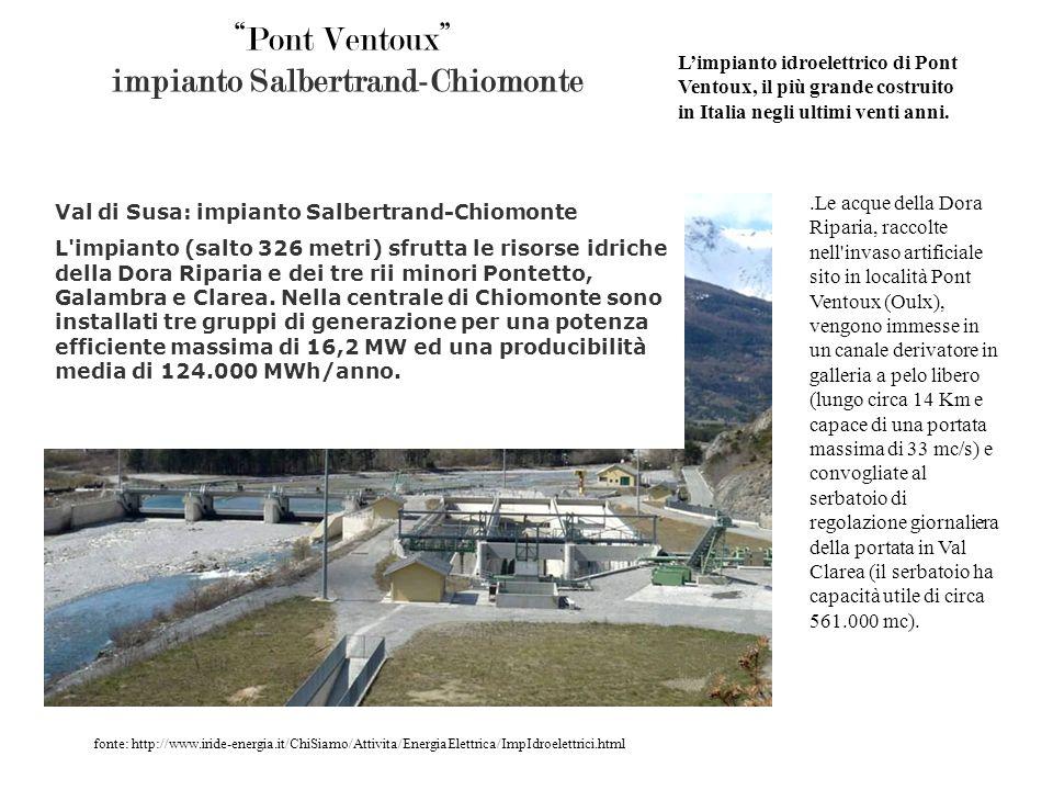 Pont Ventoux impianto Salbertrand-Chiomonte
