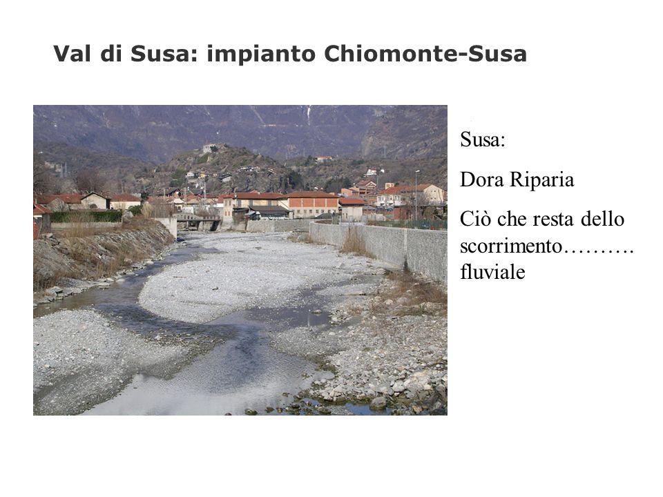 Val di Susa: impianto Chiomonte-Susa